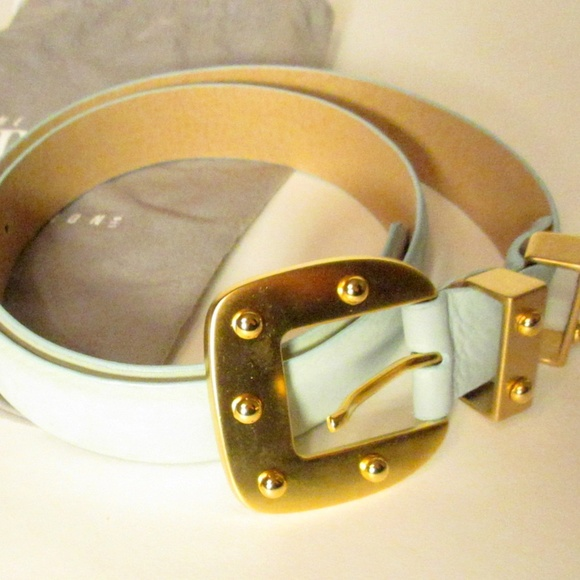 Worth Accessories - Worth Collection Blue Suede Belt 30-33 M